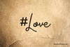 Hashtag Love Rubber Stamp