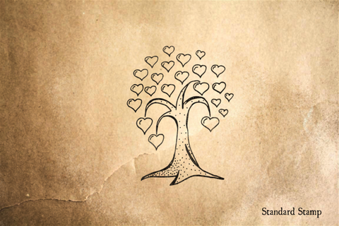 Heart Tree Rubber Stamp