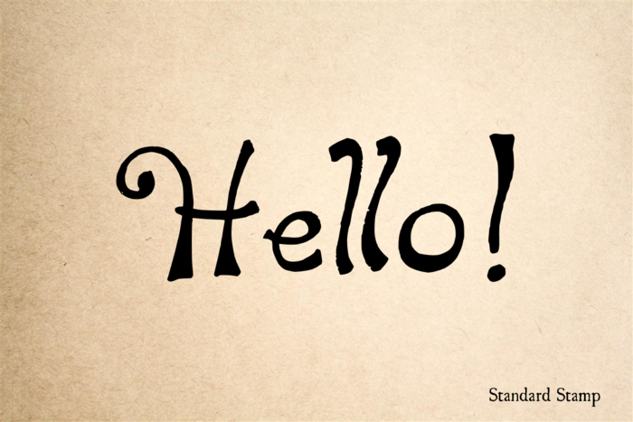 Hello Hand Drawn Rubber Stamp