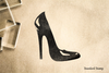 High Heels Rubber Stamp