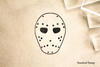 Hockey Mask Rubber Stamp