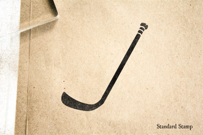 Hockey Stick Rubber Stamp