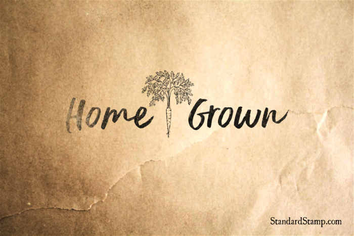 Home Grown Rubber Stamp