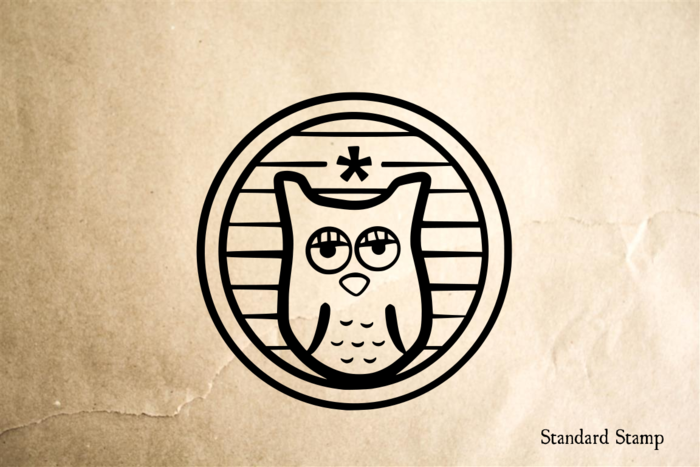 Mellow Owl Rubber Stamp