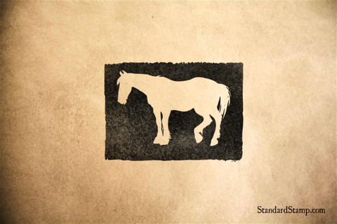 Horse Cut-Away Rubber Stamp