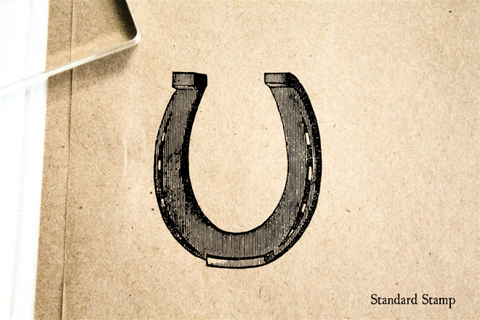 Horseshoe Rubber Stamp