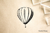 Hot Air Balloon Rubber Stamp