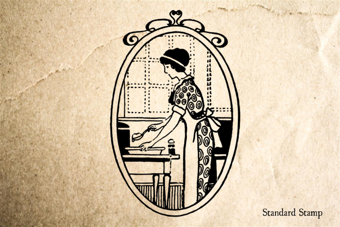 Housewife Rubber Stamp