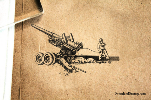 Howitzer Rubber Stamp