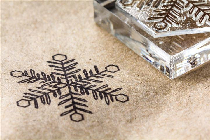 Snowflake Crystal #2 2 x 2 Inch Stamp
