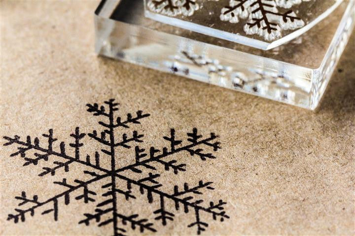 Snowflake Crystal #3 2 x 2 Inch Stamp