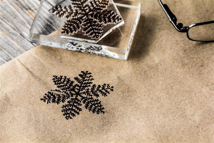 Snowflake Crystal #5 2 x 2 Inch Stamp
