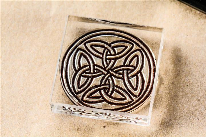 Celtic Knot #2, Ornate Gothic 2 x 2 Inch Stamp