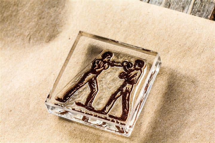 Boxing #1, Pugilist, Sports 2 x 2 Inch Stamp