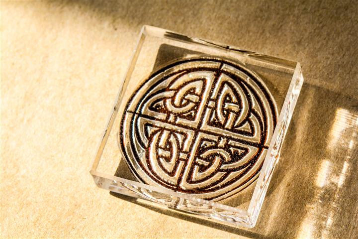 Celtic Knot #3, Ornate Gothic 2 x 2 Inch Stamp