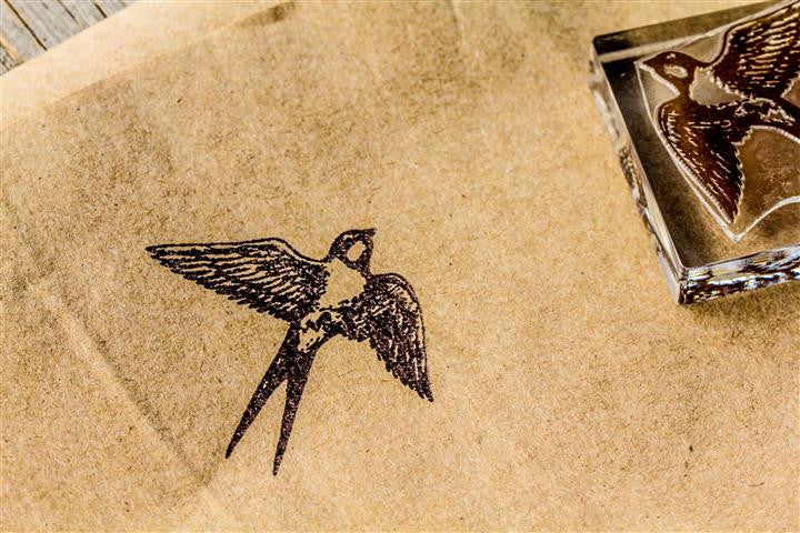 Swallow Winging Through the Sky - 2 x 2 Inch Stamp