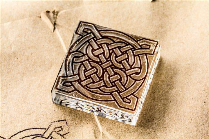 Celtic Knot #6, Ornate Gothic 2 x 2 Inch Stamp