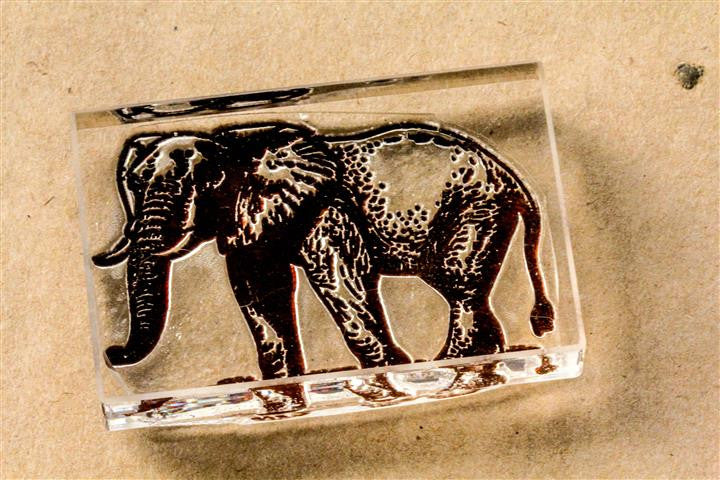 Elephant Standing 2x3 Inch Stamp