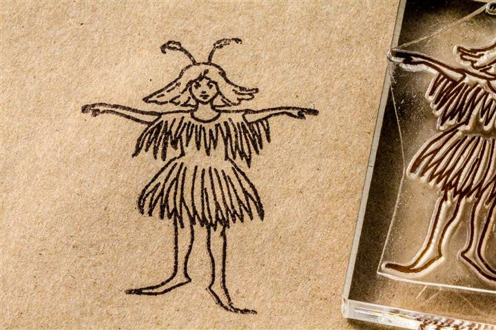 Fairy of the Flowers - 2 x 3 Inch Stamp