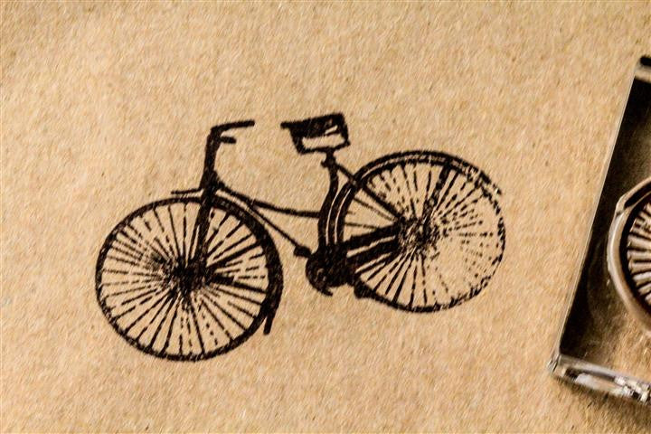 Classic Bicycle - 3 x 2 Inch Stamp