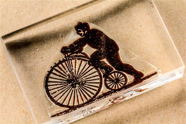 Penny-Farthing Classic Bicycle - 3 x 2 Inch Stamp