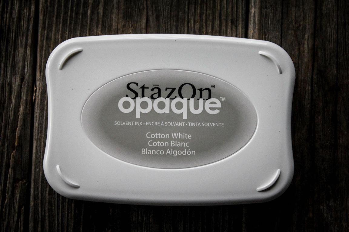 "StazOn Cotton White Ink Pad, 3"" x 2"" Kit"