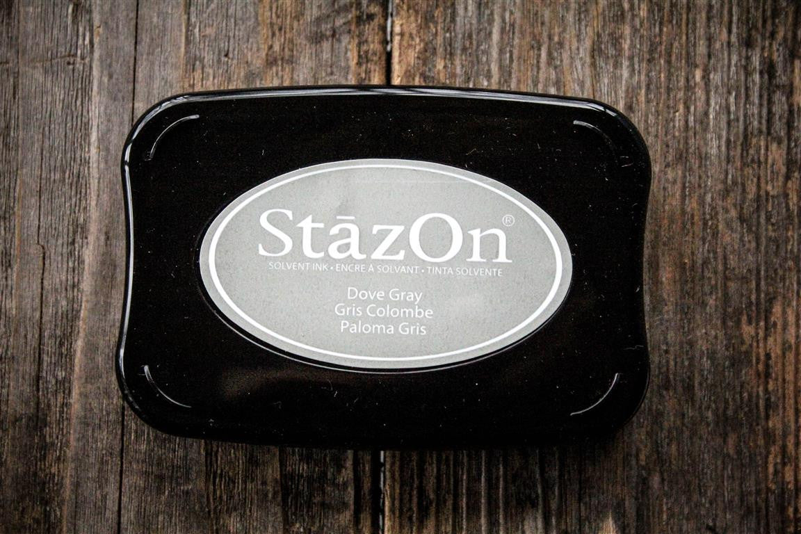 "StazOn Dove Gray Ink Pad, 3"" x 2"""
