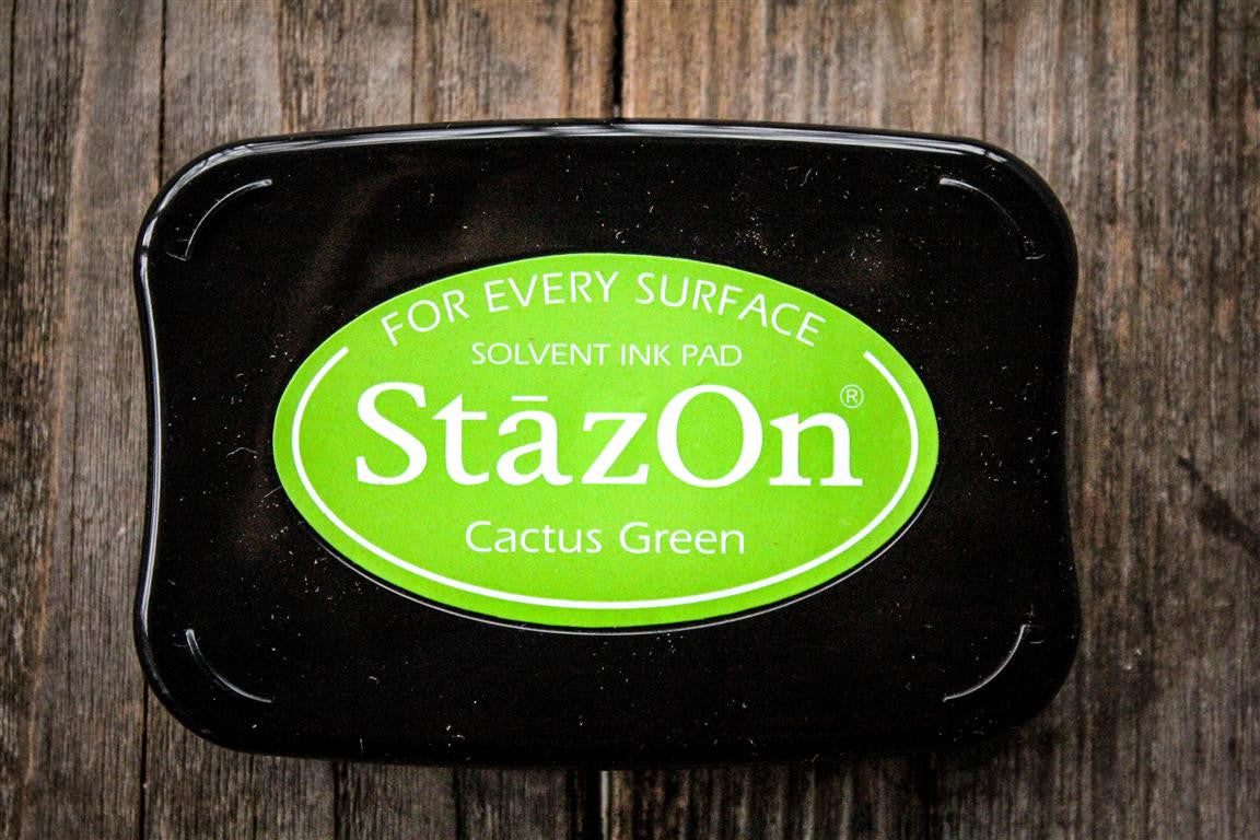 "StazOn Cactus Green Ink Pad, 3"" x 2"""