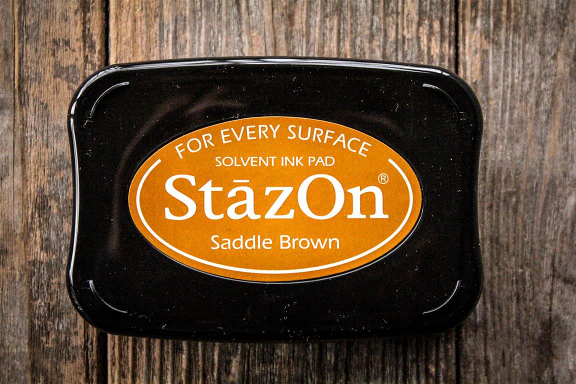 "StazOn Saddle Brown Ink Pad, 3"" x 2"""