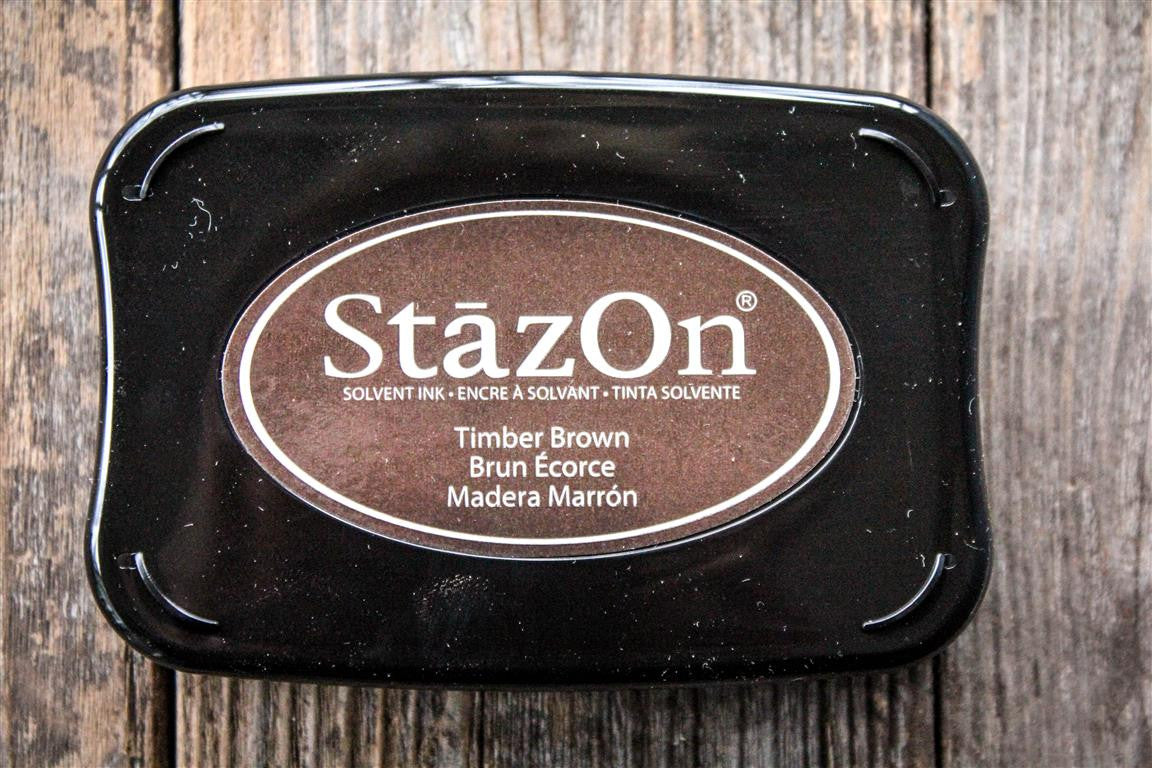 "StazOn Timber Brown Ink Pad, 3"" x 2"""