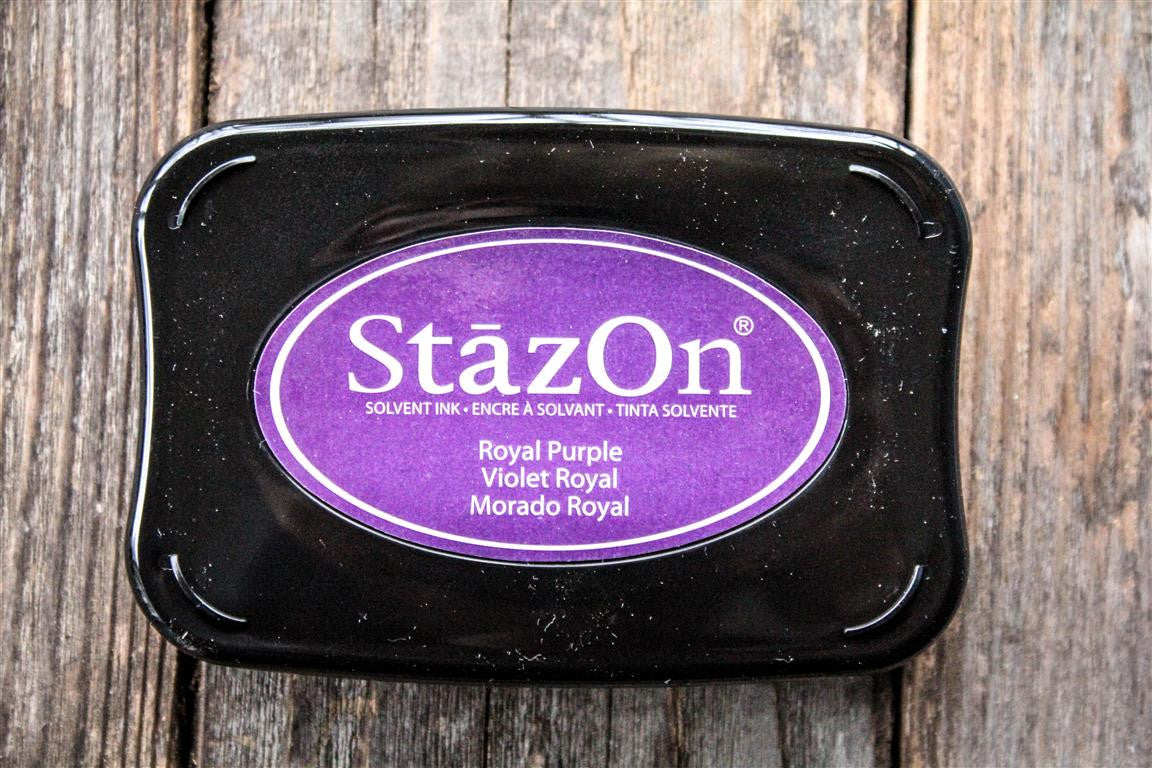 "StazOn Royal Purple Ink Pad, 3"" x 2"""