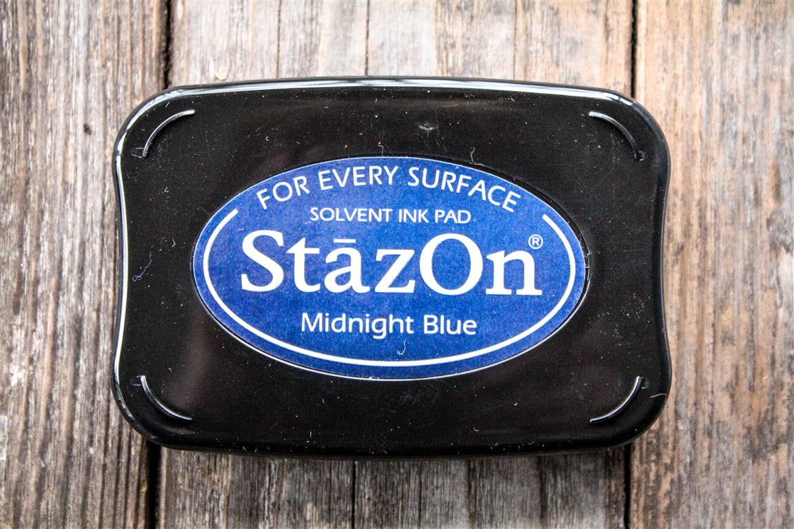 "StazOn Midnight Blue Ink Pad, 3"" x 2"""