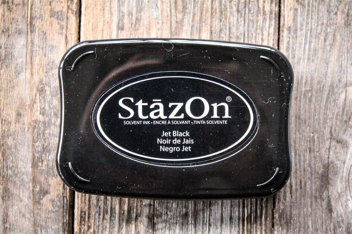 "StazOn Jet Black Ink Pad, 3"" x 2"""