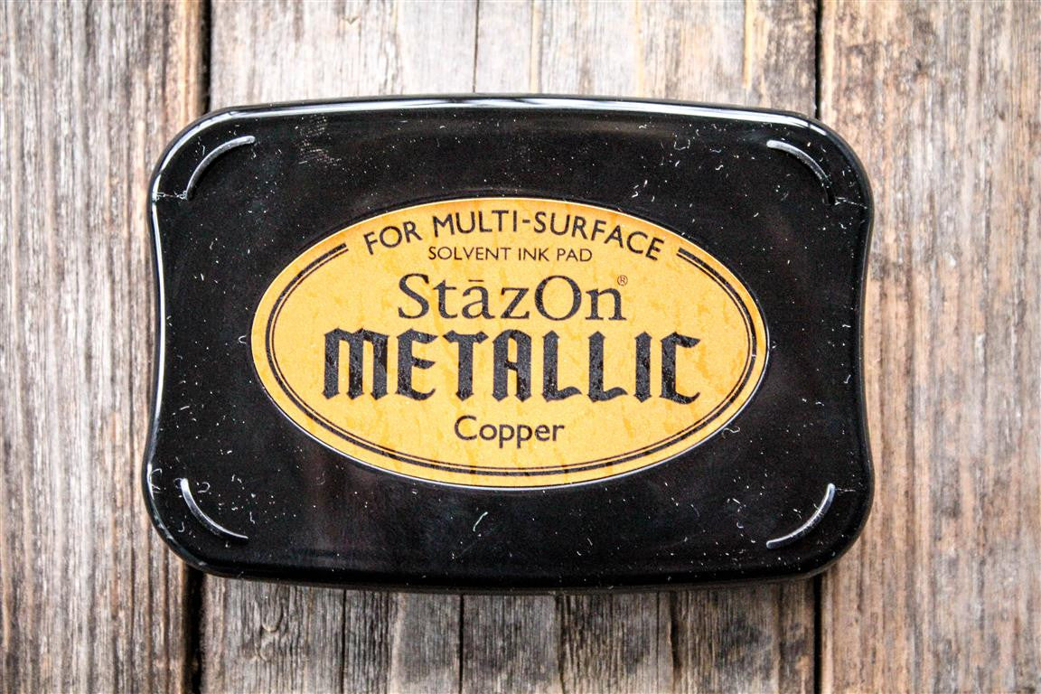 "StazOn Metallic Copper Ink Pad, 3"" x 2"" Kit"