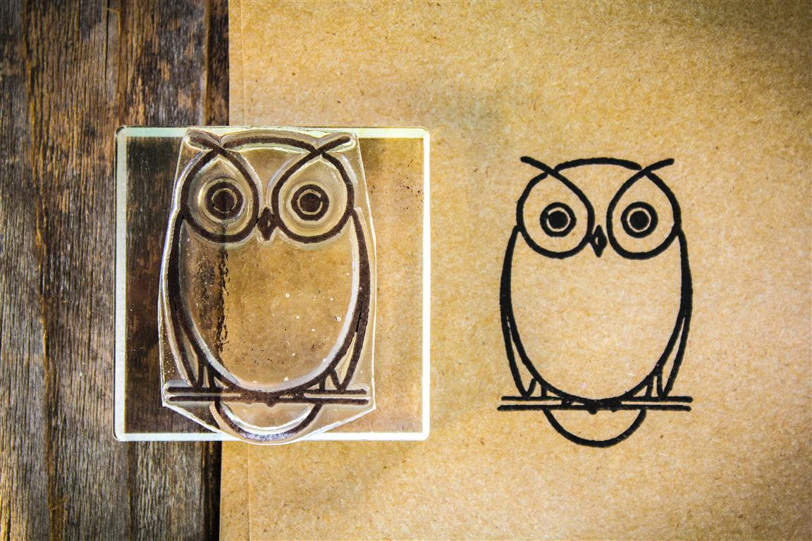 "Snappy Owl 2""x2"" Stamp"