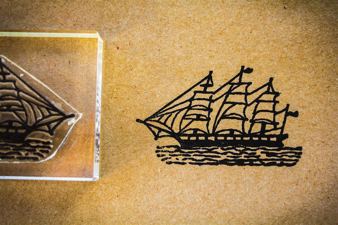 Clipper Ship 2 x 3 Inch Stamp