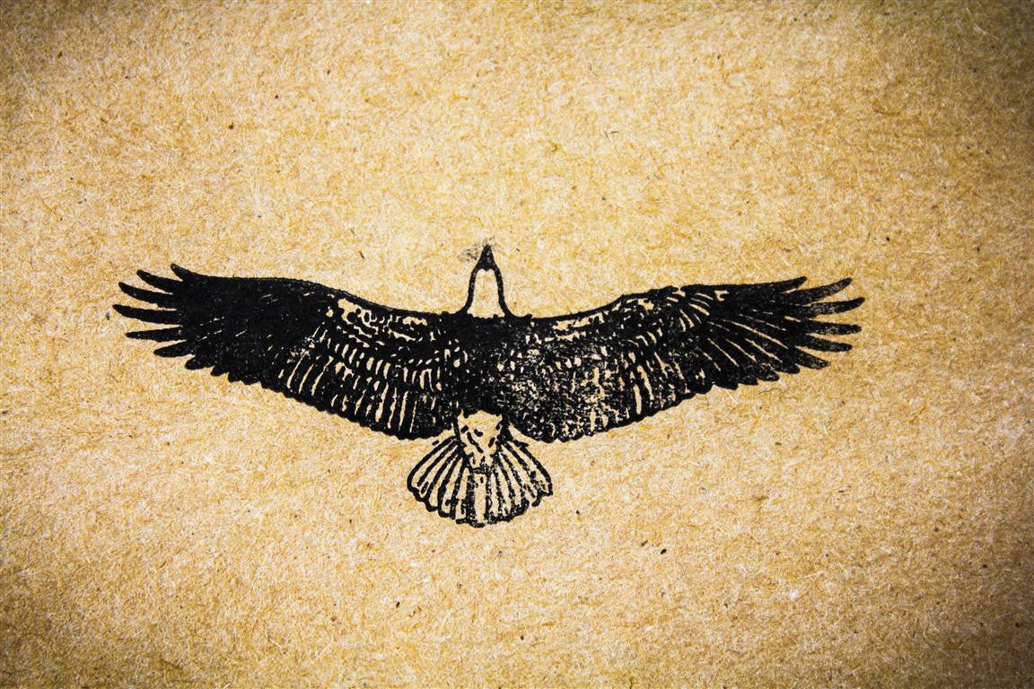 Eagle in Flight - 3 x 2 Inch Stamp