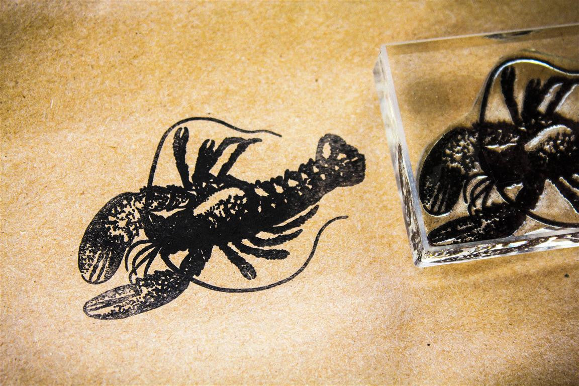 Lobster, Classic Top View, 3 x 2 Inch Stamp
