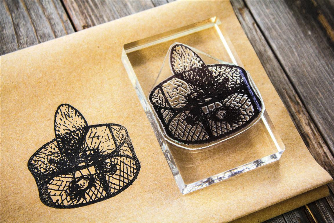 "Crab Pot 2""x3"" Stamp"