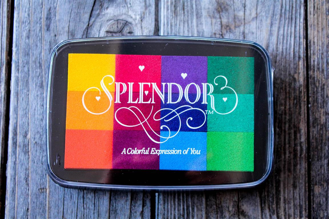 "Splendor Rainbow Ink Pad, 4"" x 2.5"""