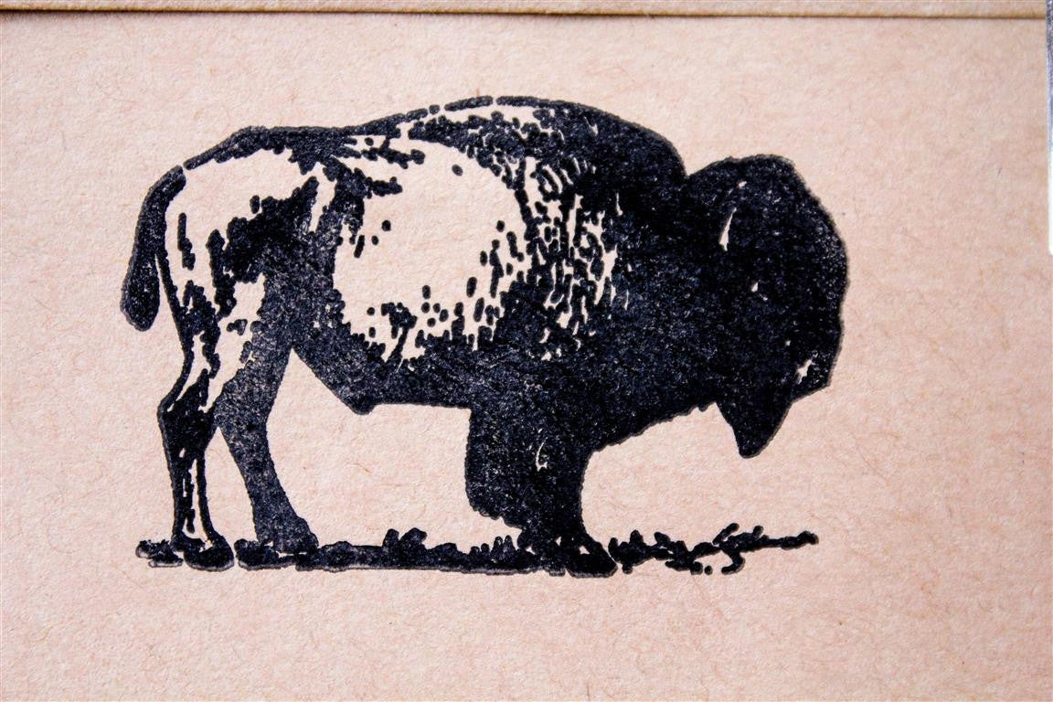 Noble Bison 2 x 2 Inch Stamp