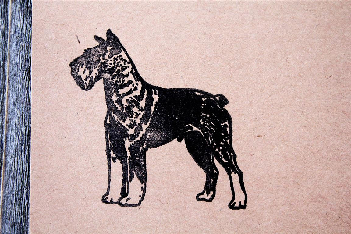 Scottish Terrier Standing 2 x 2 Inch Stamp