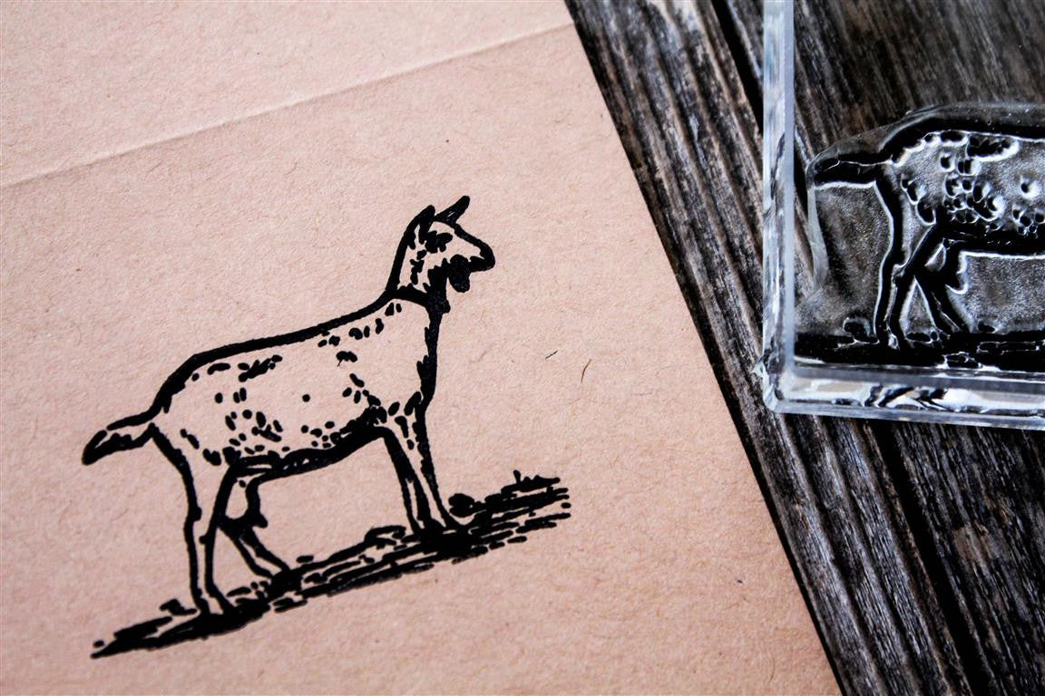 Goat Standing 2 x 2 Inch Stamp