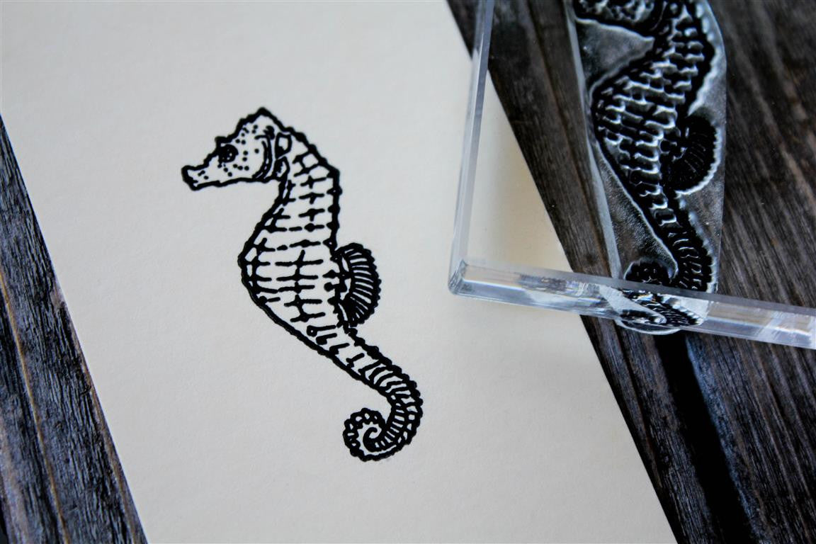 Seahorse 2 x 2 Inch Stamp