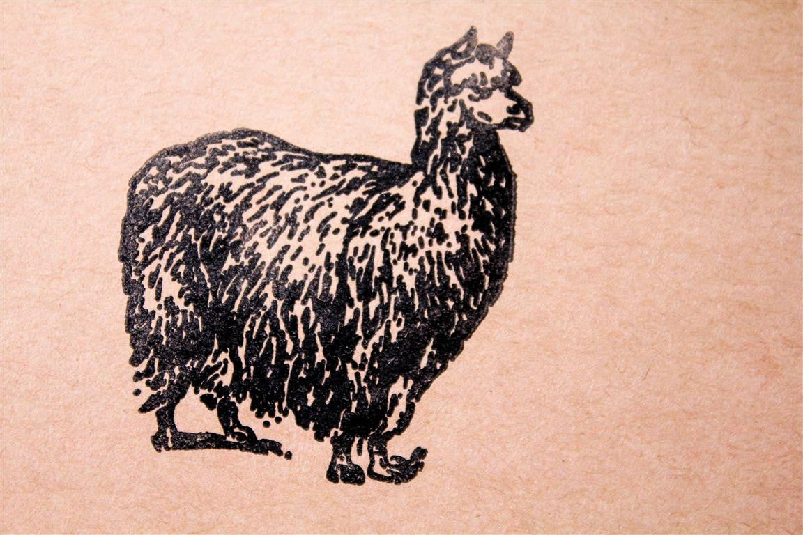 Llama Standing 2 x 2 Inch Stamp