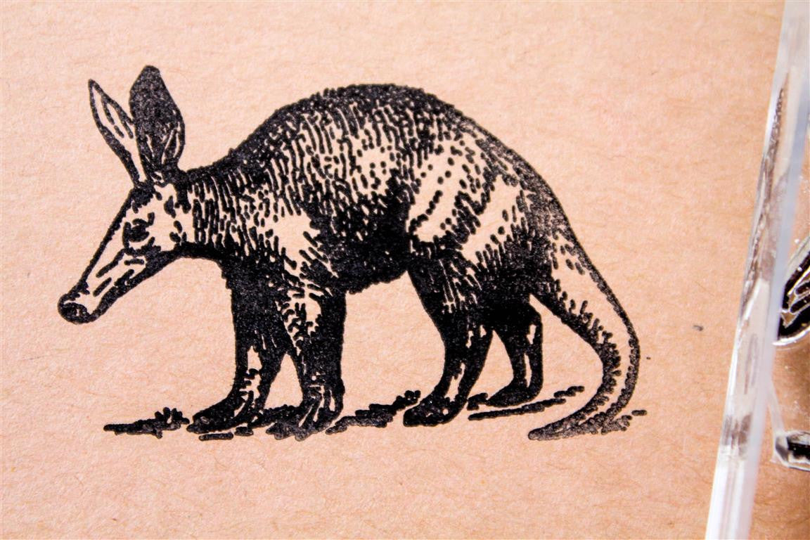 Aardvark Walking 2 x 2 Inch Stamp