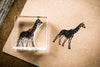 Giraffe Walking 2 x 2 Stamp