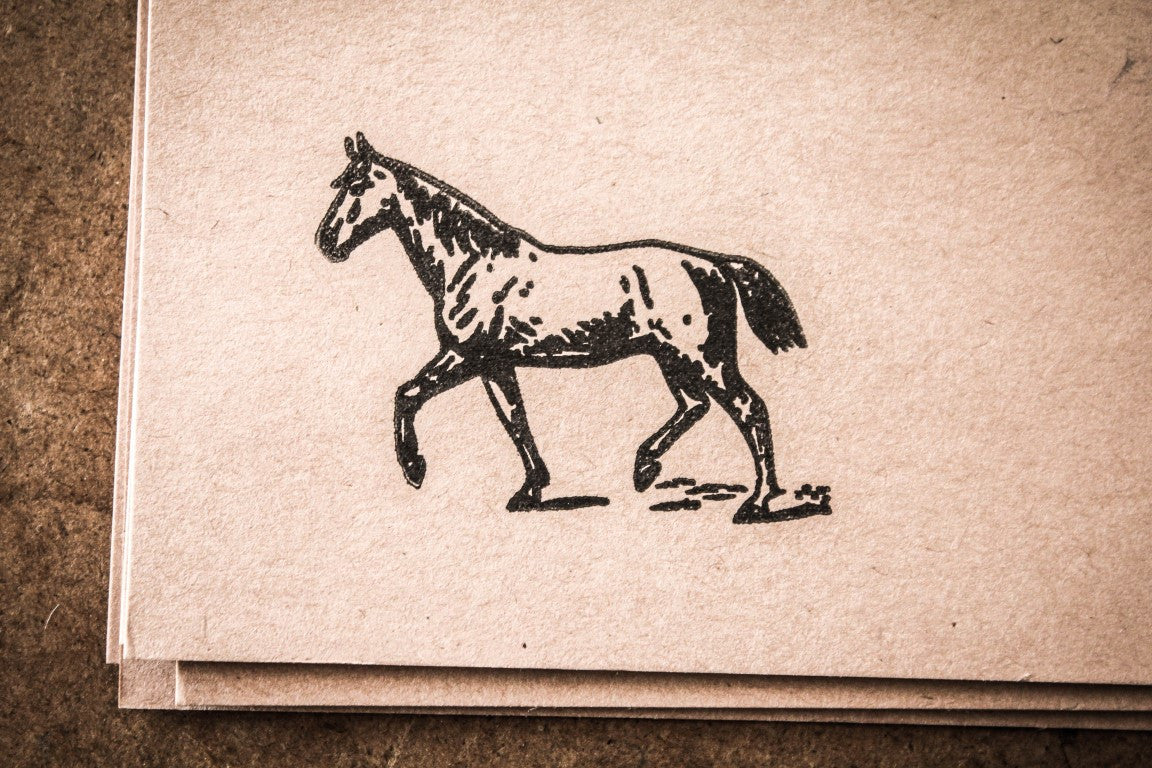 Horse Walking - 3 x 2 Inch Stamp