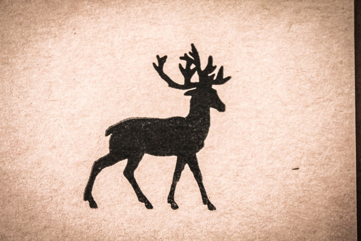 Elk silhouette - 2 x 2 Inch Stamp