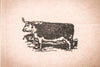 Bull Profile - 3 x 2 Inch Stamp